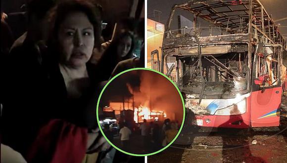 Pasajera de bus incendiado asegura que hombre echó gasolina (VIDEO)