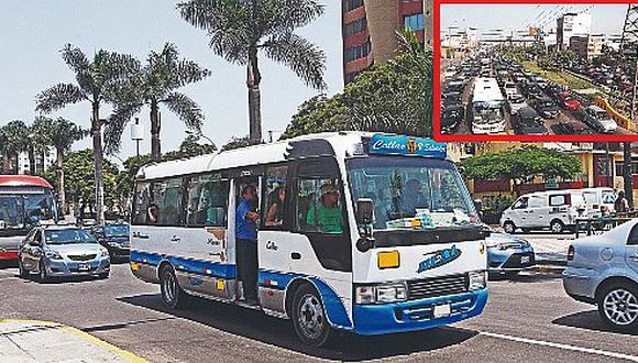 Asaltan bus en plena avenida Javier Prado