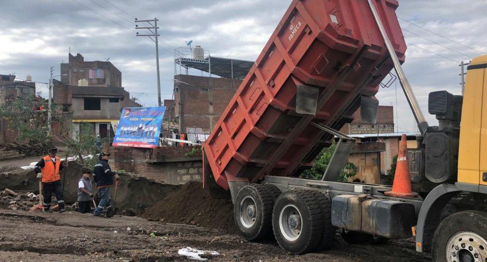 Continúan con los trabajos de limpieza y reforzamiento tras las intensas lluvias registradas en los últimos días en la Ciudad Blanca (GEC)