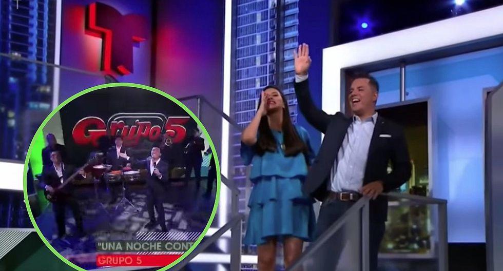 Conductor de Telemundo presenta al Grupo 5 al estilo Laura Bozzo   VIDEO
