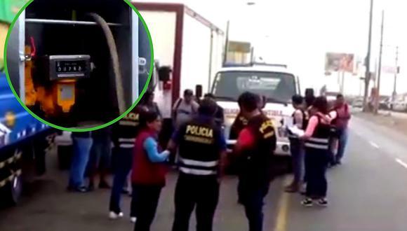 Detienen a sujeto que vendía combustible de manera ilegal en Santa Anita (VIDEO)