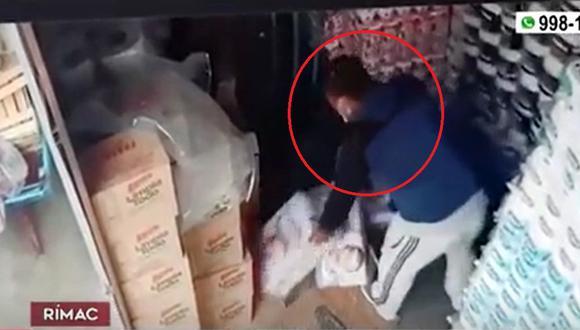 El ciudadano extranjero es acusado del robo de almacén en el Rímac. (Captura: América Noticias)