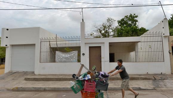 Imagen de la vivienda del Chapo en Culiacán antes de ser renovada. (Foto: Fernando Brito / AFP)