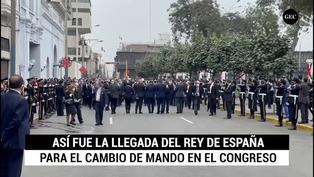 Así fue la llegada del rey de España para la toma de mando de Pedro Castillo