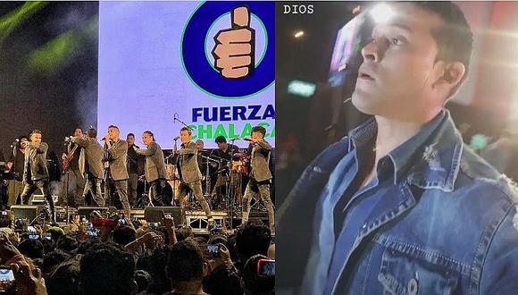 Balacera detuvo show en vivo de Christian Domínguez y la Gran Orquesta Internacional (VÍDEO)