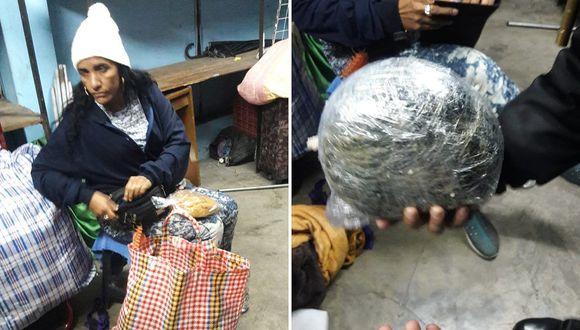 PNP detiene a colombiana con más de 2 kilos de droga│FOTOS