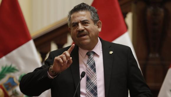 Manuel Merino renunció a la presidencia de la República y del Congreso tras las protestas en su contra que terminaron con dos muertes por represión policial. (Foto: Congreso)