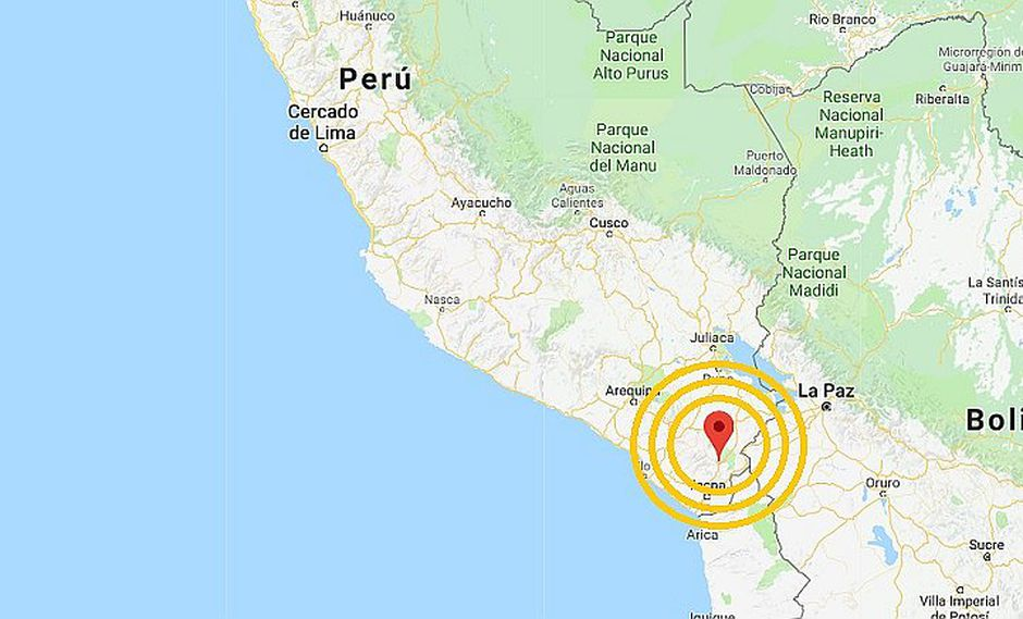 Tacna: sismo de magnitud 4.1 remeció la Ciudad Heroica