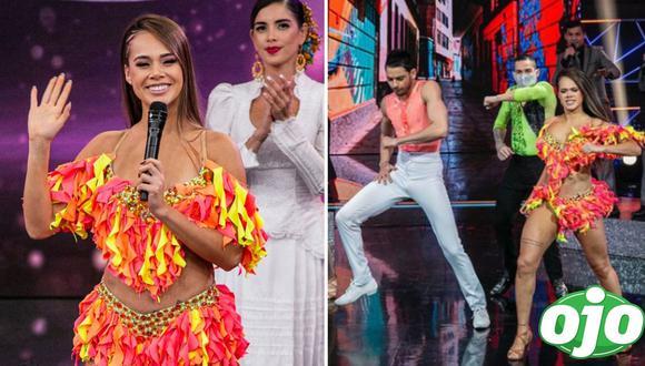 """Jossmery Toledo fue eliminada de """"Reinas del show"""" en la sexta gala del programa. (Foto: GV Producciones   Instagram/@elgranshowperu)."""