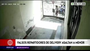 Falsos repartidores de delivery le robaron el celular a una menor de edad en El Agustino