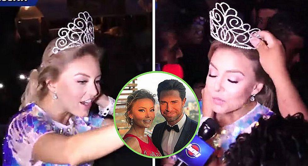 Angelique Boyer es agredida con latas de cerveza mientras era coronada   VIDEO