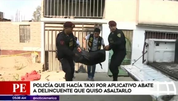 Dos delincuentes se enfrentaron a suboficial en el AA.HH. Pacífico de Villa, en San Juan de Miraflores. (Captura: América Noticias)