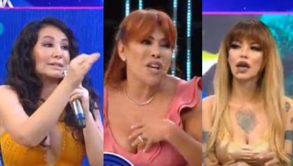 Magaly Medina y las últimas discusiones que protagonizó con sus invitados en el set de televisión. (Foto: Captura Magaly TV: La Firme).