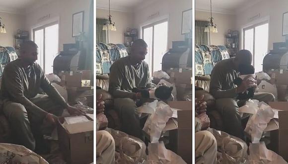 Padre recibe el mejor regalo de Navidad: un peluche con la voz de su madre fallecida (VIDEO)
