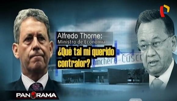 Difunden audio entre Alfredo Thorne y contralor Edgar Alarcón que menciona a PPK