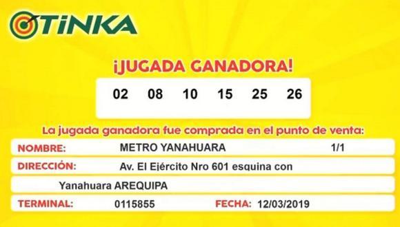 Arequipeño ganó 20 millones de soles de La Tinka