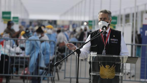 Presidente Francisco Sagasti supervisó inicio de nuevo Plan de Vacunación contra el COVID-19. (Foto: Jorge Cerdán/@photo.gec)