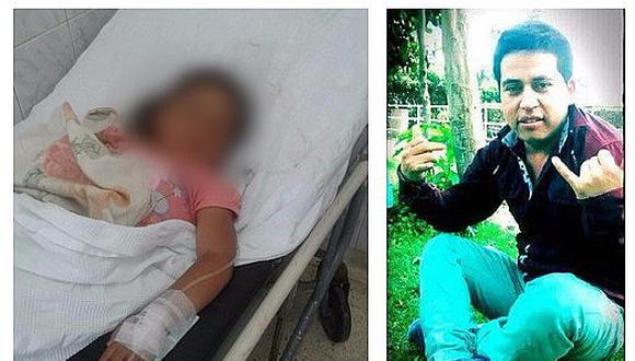 Padrastro deja grave e inconsciente a niña de 3 años