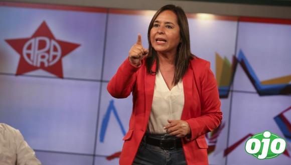 Nidia Vílchez sí pudo inscribir su fórmula presidencial por el Apra. (Foto: Britanie Arroyo / GEC)