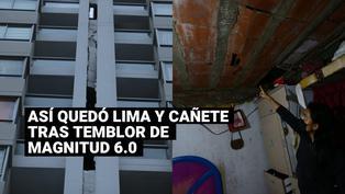 Imágenes del sismode magnitud 6.0 que se registró en Lima y Cañete