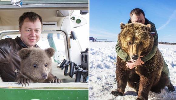 El oso pardo Mansur se convirtió en una estrella del TikTok e Instagram. (Foto: Instagram)