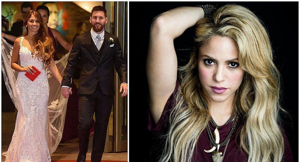 La boda de Messi y Antonella: mira el vestido de Shakira en la ceremonia (FOTO)