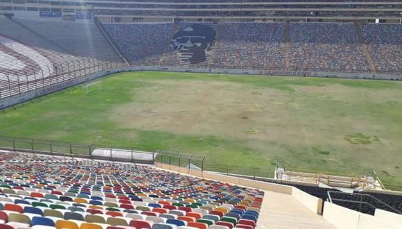 Así luce el campo del Estadio Monumental de Universitario de Deportes. (Foto: Difusión)