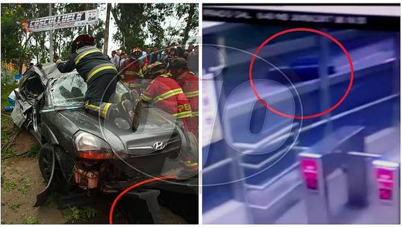 Vía Expresa: mujer muere en camioneta que impactó en poste y dio vueltas de campana (VIDEO)
