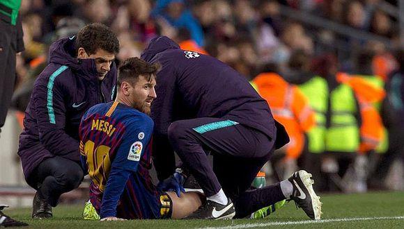 Barcelona: Messi se perdería clásico del miércoles contra Real Madrid