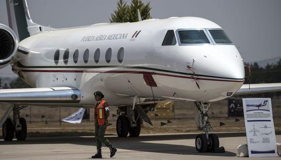 """Es una de las aeronaves que el gobierno de AMLO puso a la venta para """"garantizar la austeridad en el ejercicio de la función pública"""". (Foto: AFP)"""