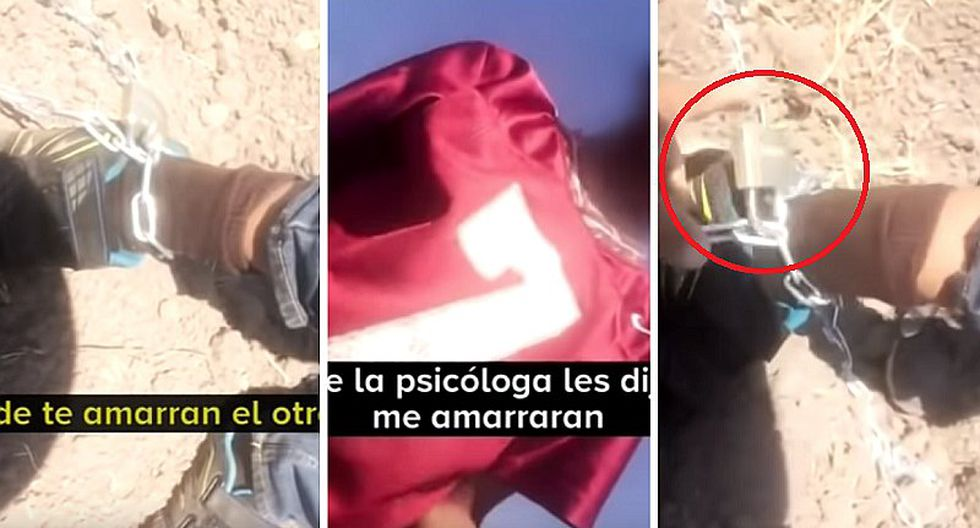 Hallan a niño encadenado por sus padres, lo rescatan y se salva de castigo (VIDEO)