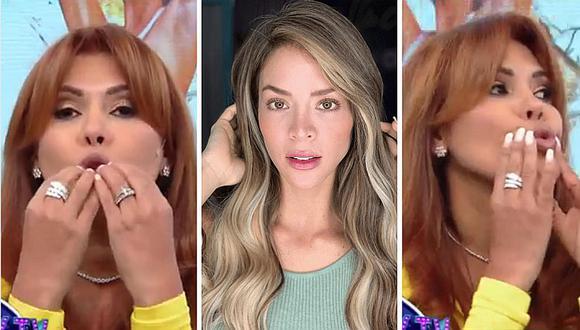 """Magaly Medina raja de los labios de Sheyla Rojas: """"¿Por qué le hacen esa maldad a esa chica?""""   VIDEO"""