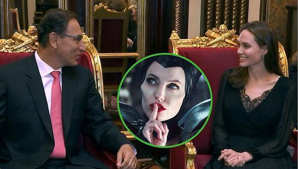 ¿Qué dijo Martín Vizcarra que hizo sonreír a Angelina Jolie? (VIDEO)