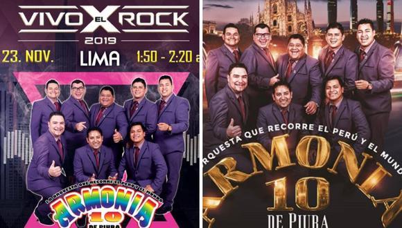 Armonía 10 en Vivo X el Rock