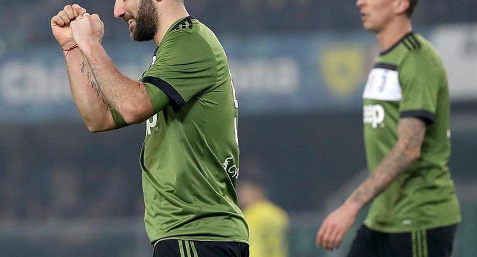 Juventus con gol de Higuaín vence al Chievo y arrebata liderato al Nápoles