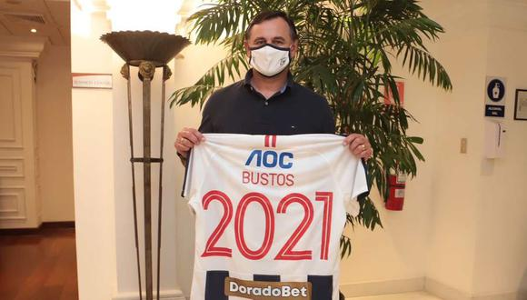 Carlos Bustos arribó a Perú. (Foto: @ClubALoficial)