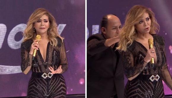 Gisela Valcárcel vivió un incómodo momento en vivo por su atuendo. (Foto: Captura América TV).