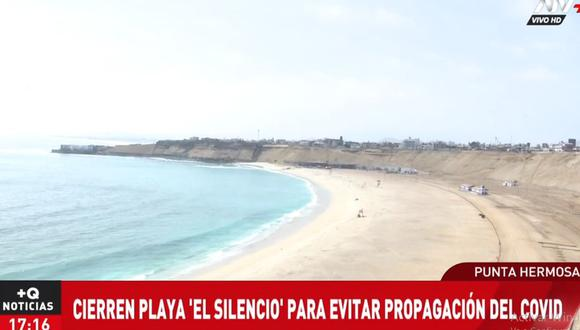 La playa El Silencio fue cerrada por la Municipalidad de Punta Hermosa. (ATV+)