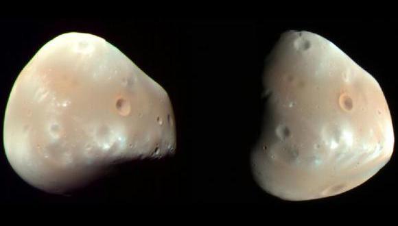 NASA publica video de lunas de Marte cruzándose