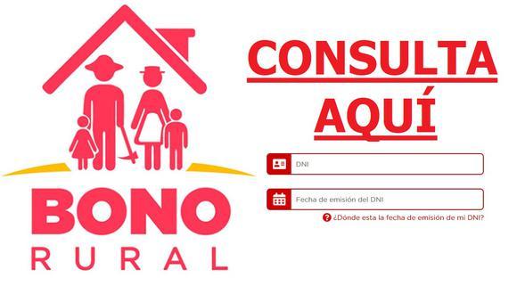 Conoce aquí todo lo que debes saber sobre el Bono Rural de S/ 760 (Foto: Gobierno del Perú)