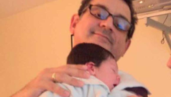 Sergio Galliani orgulloso papá, presenta a su primer hijo varón