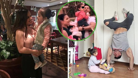 Andrea San Martín y Sebastián Lizarzaburu se reencuentran en fiesta de su bebé (FOTOS y VIDEO)