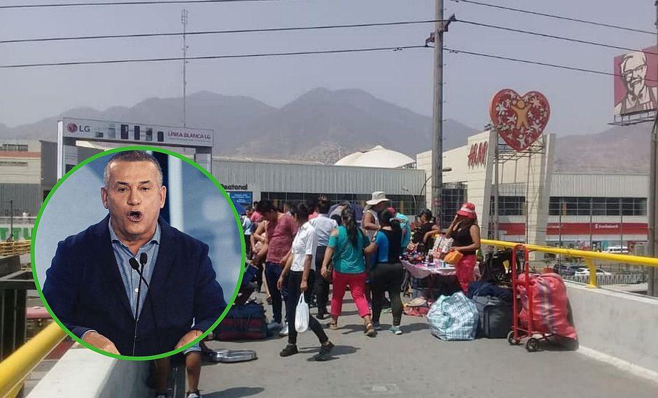 Daniel Urresti arremete contra Municipalidad de Lima e Independencia por ambulantes