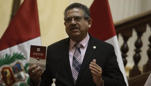 """Manuel Merino, presidente del Congreso, rechazó estar detrás de un supuesto """"complot"""" para alterar el orden constitucional. (Foto: Cesar Campos / @photo.gec)"""