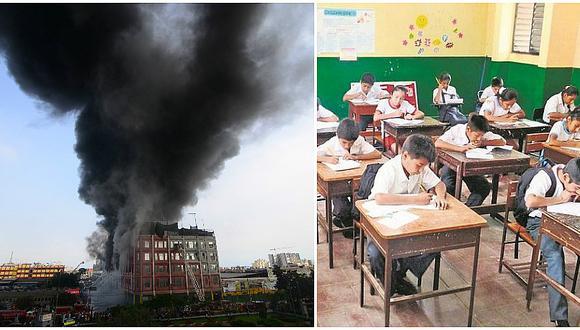 Incendio en Las Malvinas: mira la lista de colegios donde se suspendieron clases