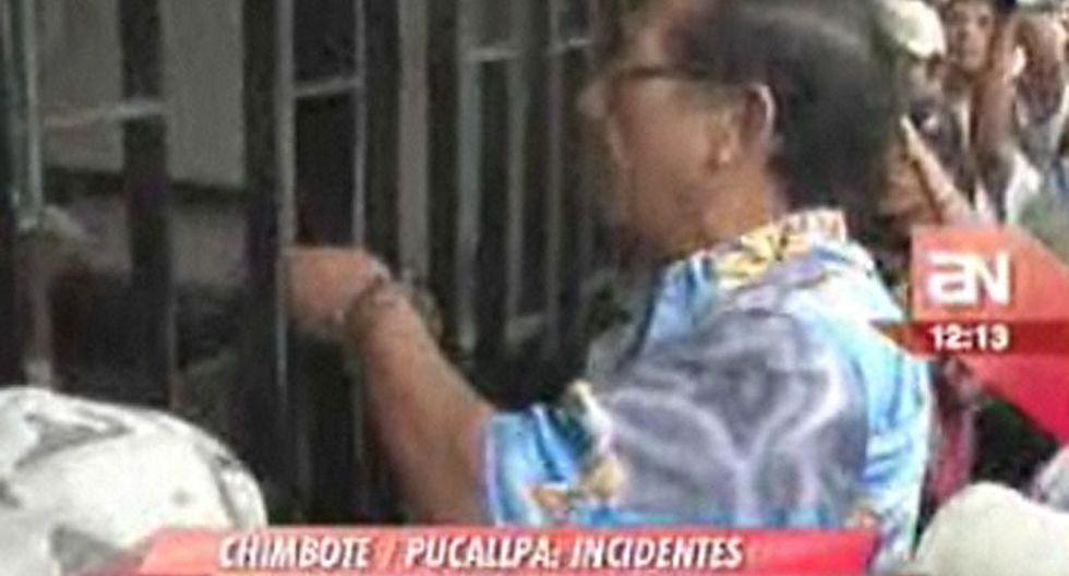 Apristas se agarraron a golpes en Chimbote y Pucallpa