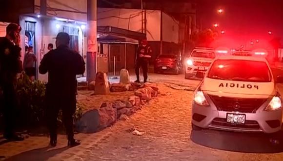 La balacera se produjo en la cuadra 41 de la avenida Argentina. (Foto: Captura/América Noticias)