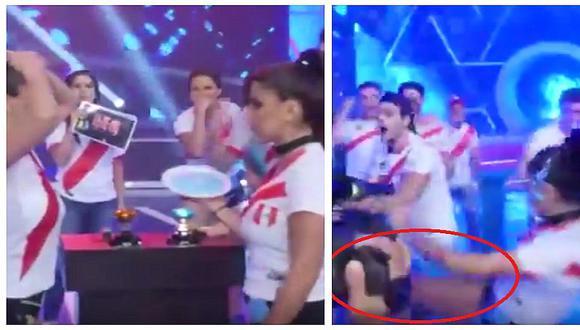 Yahaira Plasencia tira patada a Rosángela Espinoza en pleno juego de EEG
