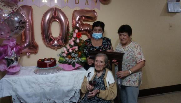 Chiclayo: tatarabuela cajamarquina cumplió 105 años de vida al lado de sus familiares