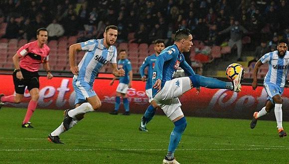Nápoles golea 4-1 al Lazio y recupera liderato que había tomado Juventus